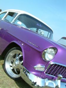 classic purple car