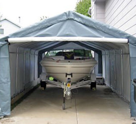 If possible store your boat in a heated garage at a temperature of 50 degrees Fahrenheit or higher. If the boat must be stored outdoors ... & Winter Boat Storage Tips | Caring For Your Boat During Winter