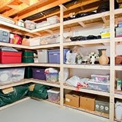 Storing Holiday Decorations Storage Area