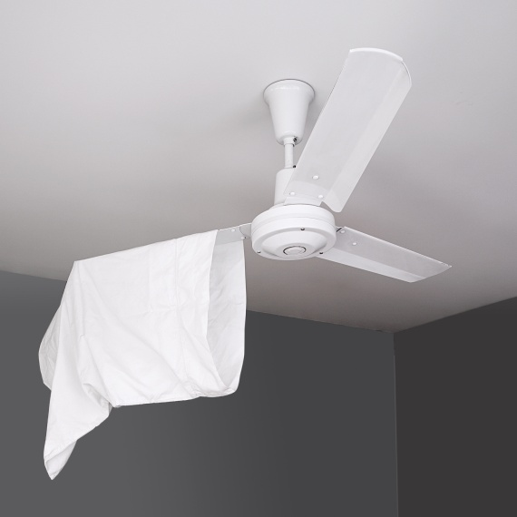 Spring cleaning - ceiling fan cleaning hack