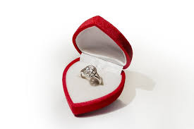 Valuable Items insurance - Engagement ring in a heart-shaped box