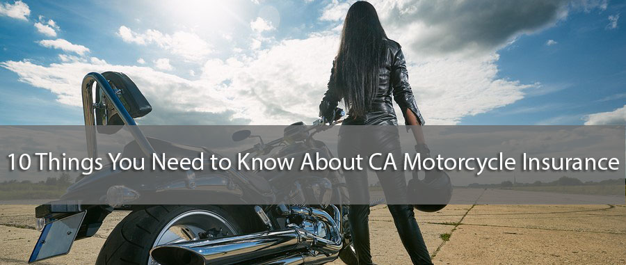 Motorcycle Insurance in CA - female biker