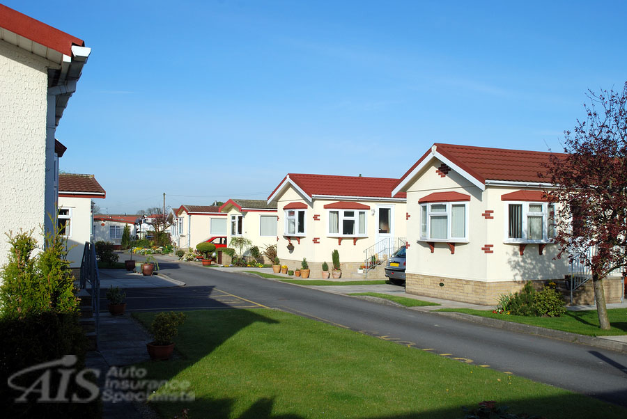 Retirement or trailer park holiday homes in Lancashire. AIS offers homeowner's insurance, including for mobile homes.