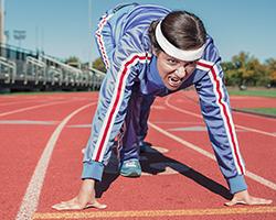 woman race position