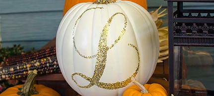 halloween-decor-glittery-pumpkin