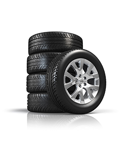 Car breakdowns - Stack of new car tires