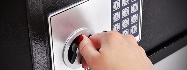 emergency financial plan - safe box lock