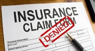 denied insurance claim - denied insurance document