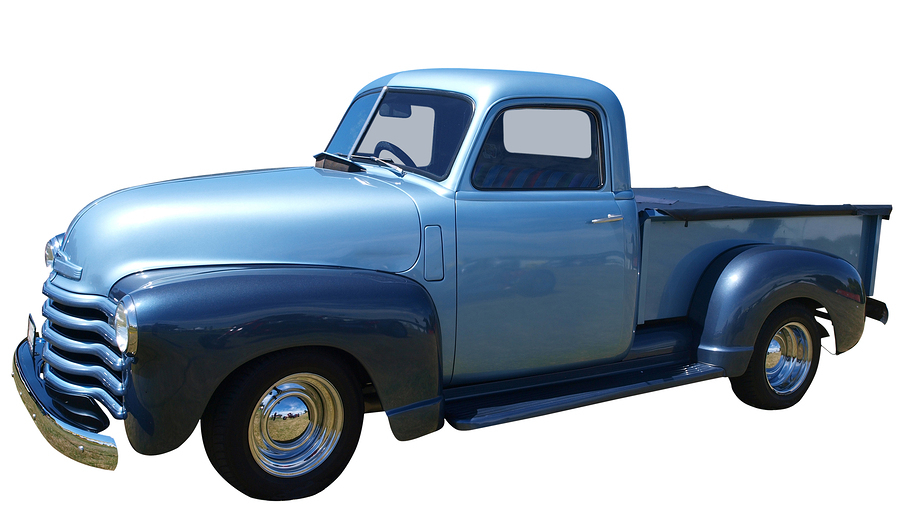 Auto insurance - 1948 Chevrolet Thriftmaster Truck isolated with clipping path
