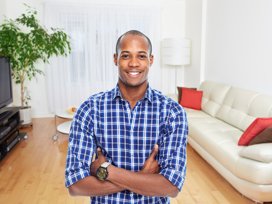 Insurance - man smiling in home