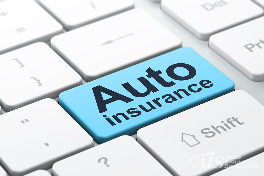 Auto insurance in California - button on a keyboard