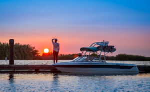 boat insurance sunset on dock