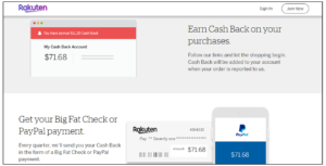 rakuten referral program cashback