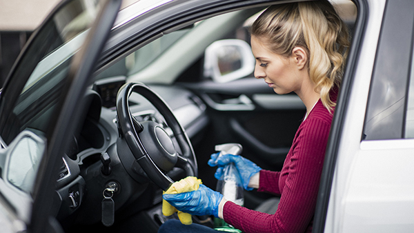 how to sanitize your car