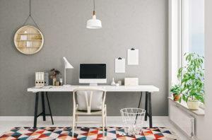 home office desk setup