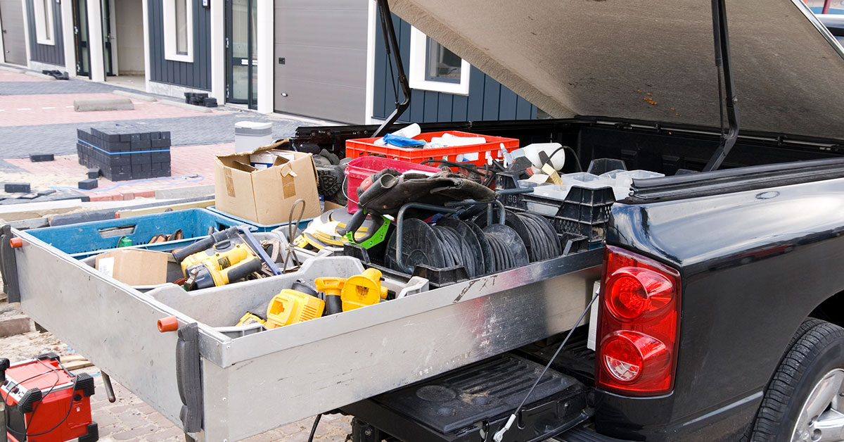 Truck with tools-Business Insurance Covers Tools