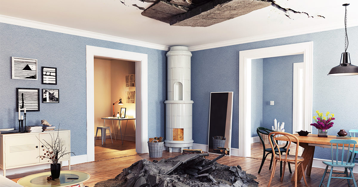 home ceiling destroyed
