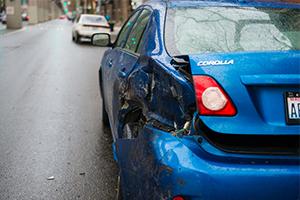 blue corolla in hit-and-run