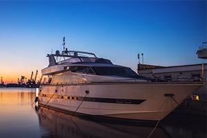 night cruising on a boat