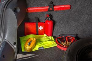 emergency kit for road trip