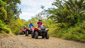 atving in the mountains